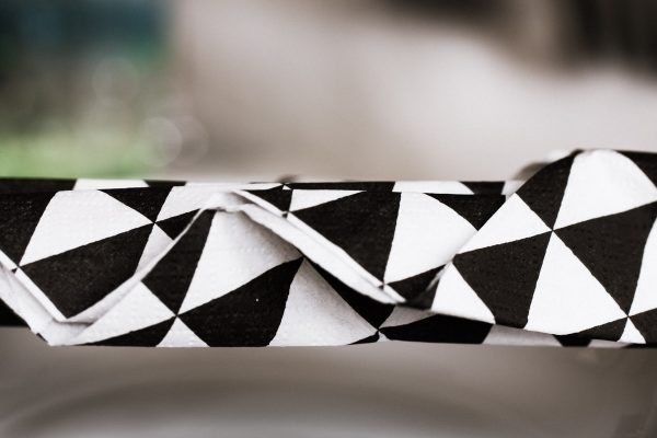 Mustermix black and white Papierserviette