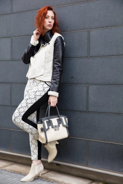 Black/white/creme Look